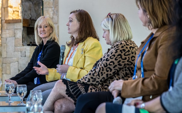 Mary Wells of ASG and 3 other women at the Women Leaders in Technology Event