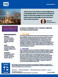 Clemson University Leverages ASG's Content Services Platform for Re...