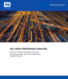 ASG-TMON Performance Analyzer Brochure and Product Catalog