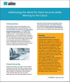 Addressing the Need for Data Security while Moving to the Cloud