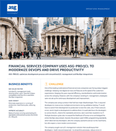 Financial Services Company Uses ASG-PRO/JCL to Modernize DevOps & D...