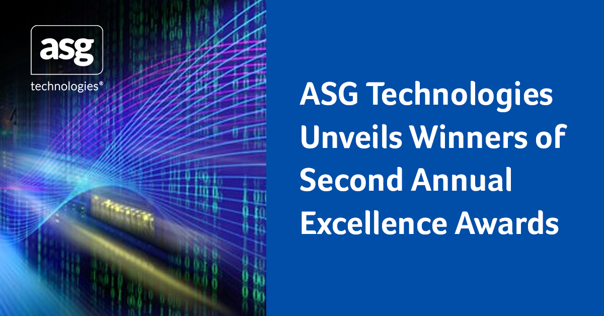 ASG Technologies Unveils Winners of Second Annual Excellence Awards