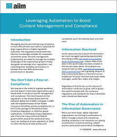 Leveraging Automation to Boost Content Management and Compliance
