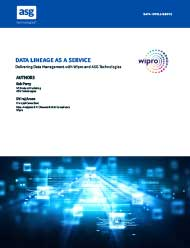 ASG & Wipro: Data Lineage as a Service