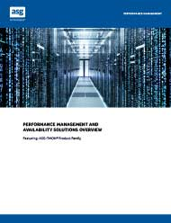 ASG-Performance Mgmt Availability Solutions Overview brochure