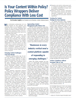 KM World: Is Your Content Within Policy? Policy Wrappers Deliver Co...