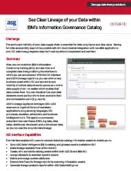 ASG & Estuate: IGC Interface Provides Clear Data Lineage